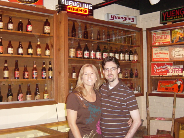 Deanna and I at the Yuengling brewery